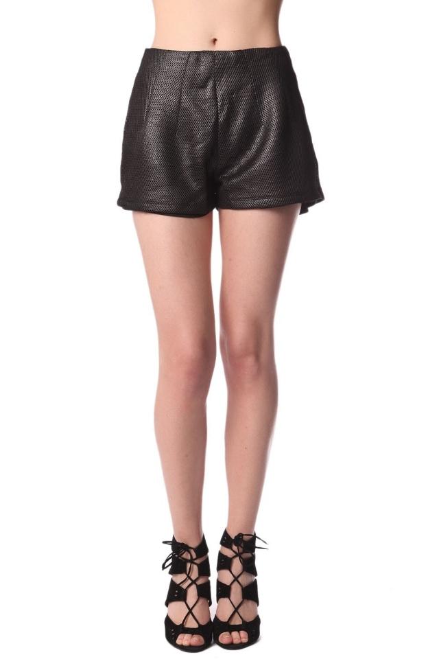 Pantalones cortos con textura metalizada