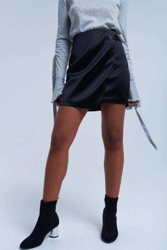 Zwarte rok met zilveren gesp