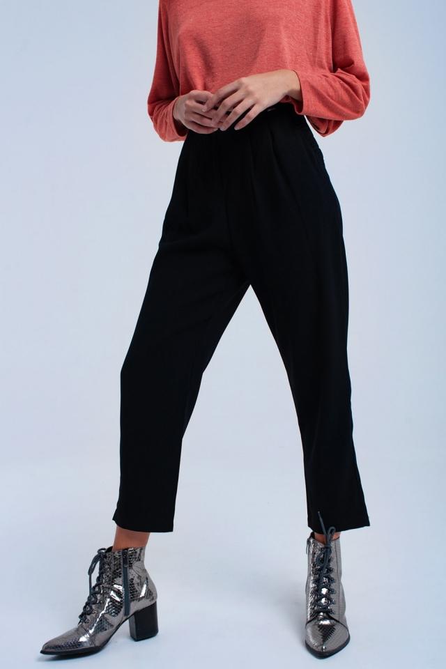 Zwarte broek met plooien