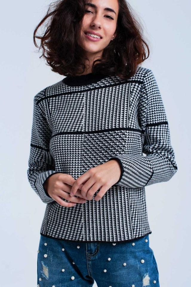 Zwarte trui met print