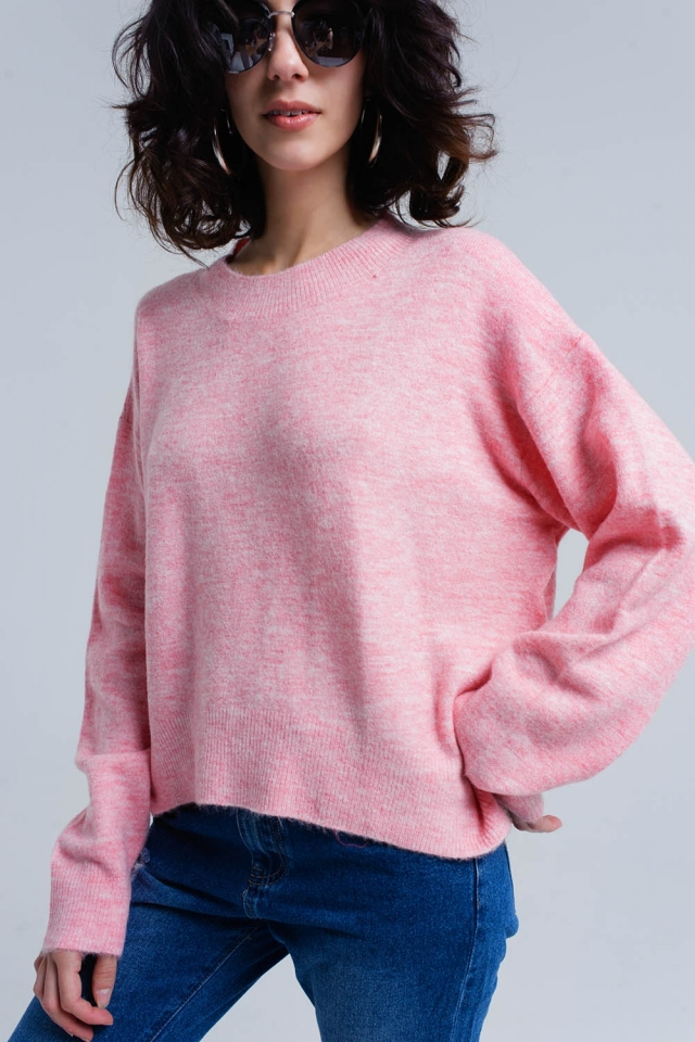 Roze oversized sweater