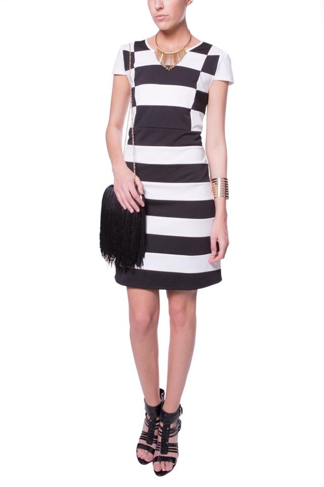 Grote strepen jurk