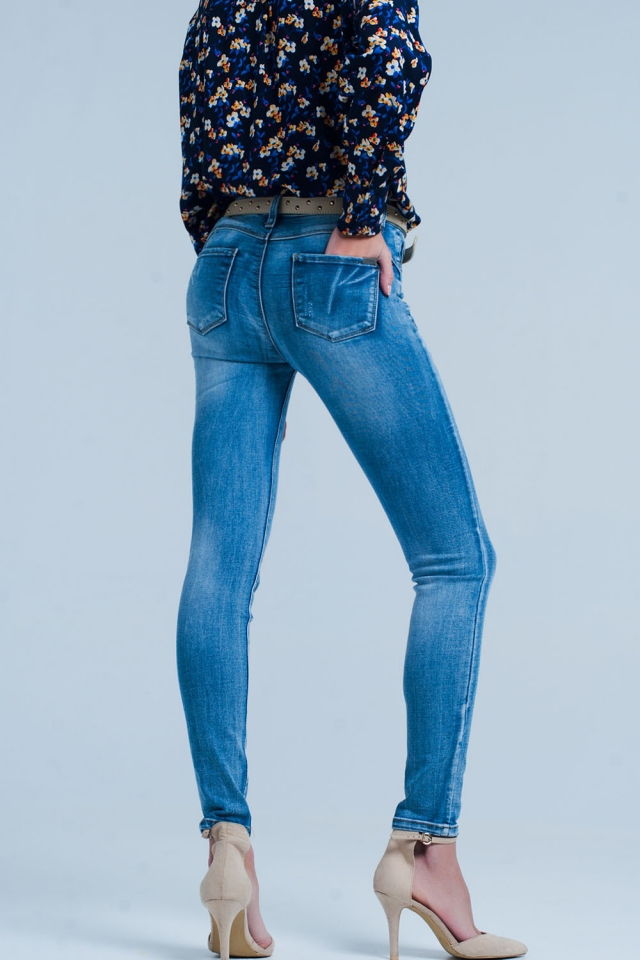 hoge taille Push-up skinny jeans