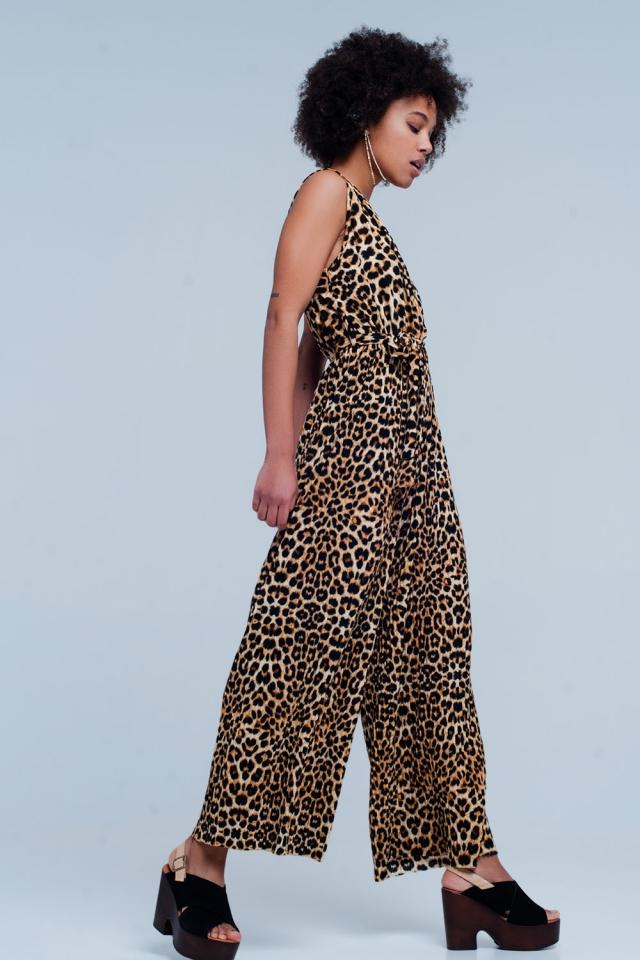 Bruin Jumpsuit in Luipaard Print
