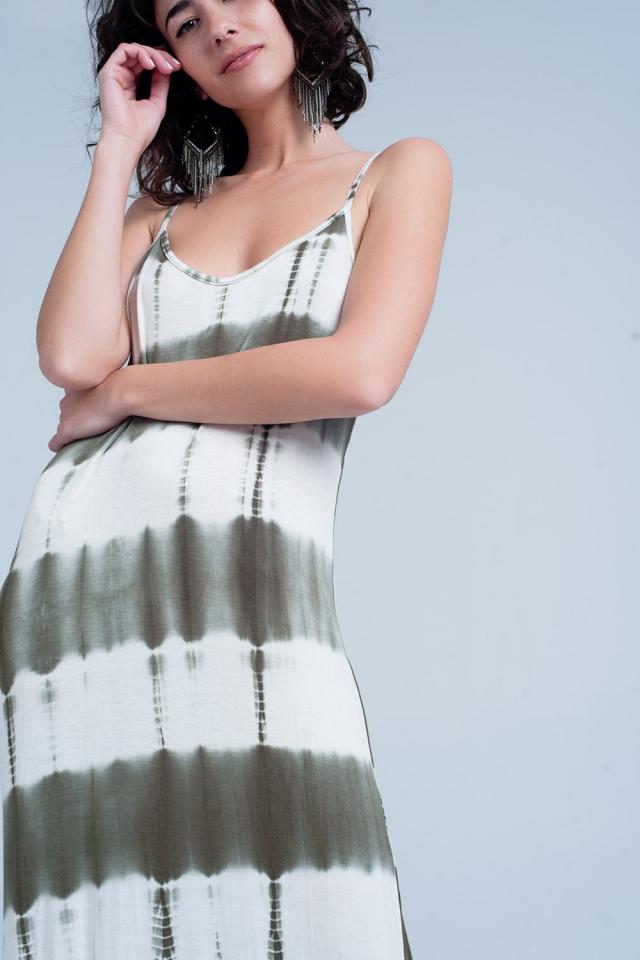 Lange khaki jurk