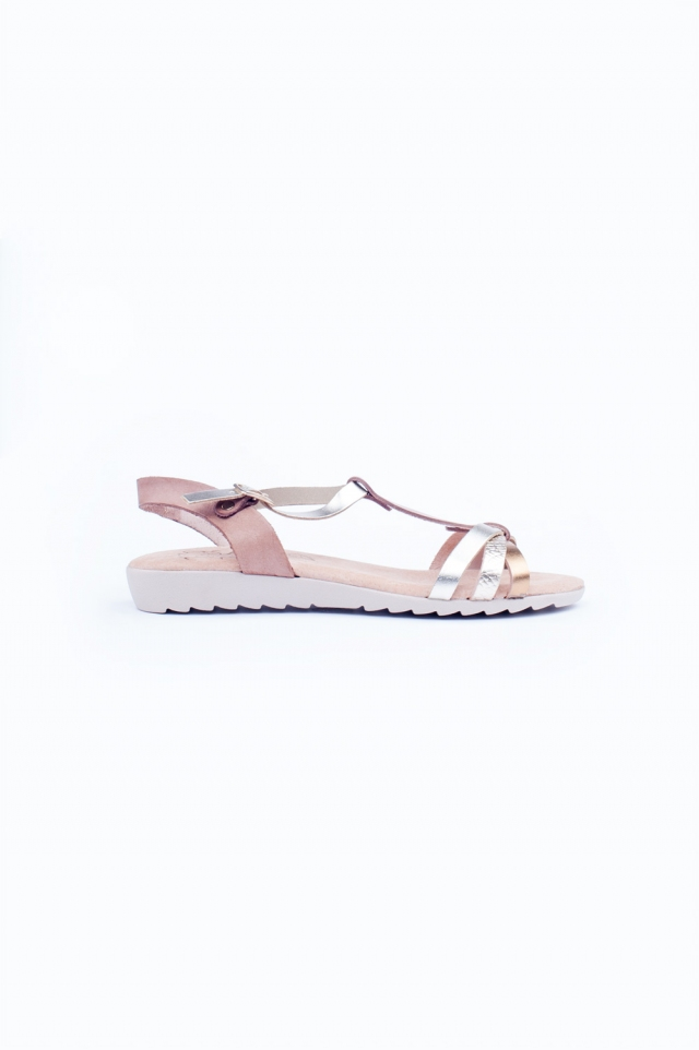 Dikke platte sandalen
