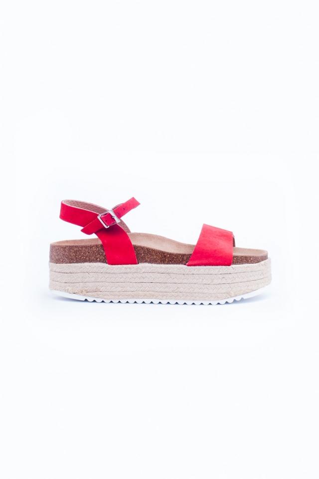 Espadrille sandalen in roze