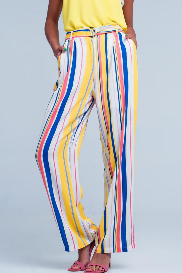 Losse broek met strepen