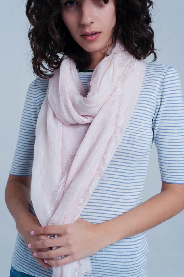 Dunne licht roze sjaal
