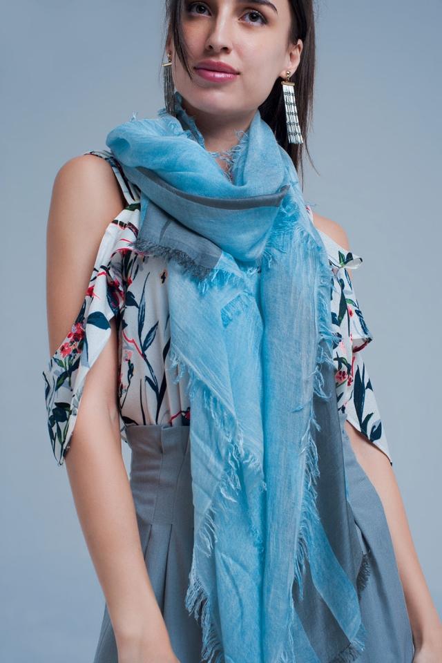 Grijze gestreepte sjaal
