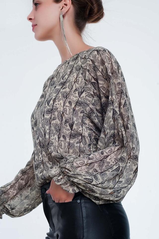 Overhemd met lange mouwen en paisleyprint