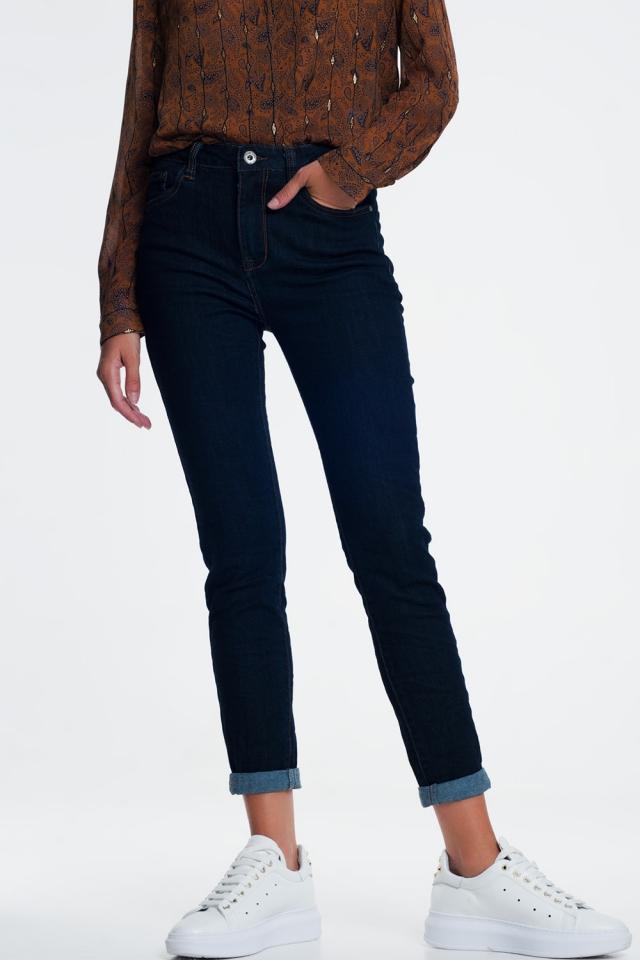 Klassieke jeans in inktblauw