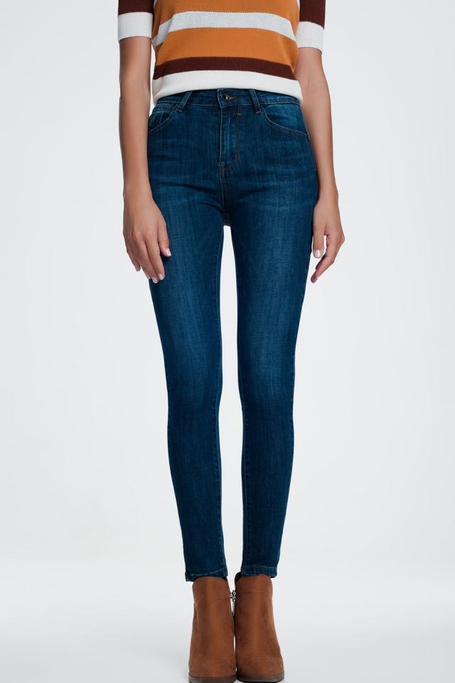 Vormende push-up skinny jeans tot aan de enkels