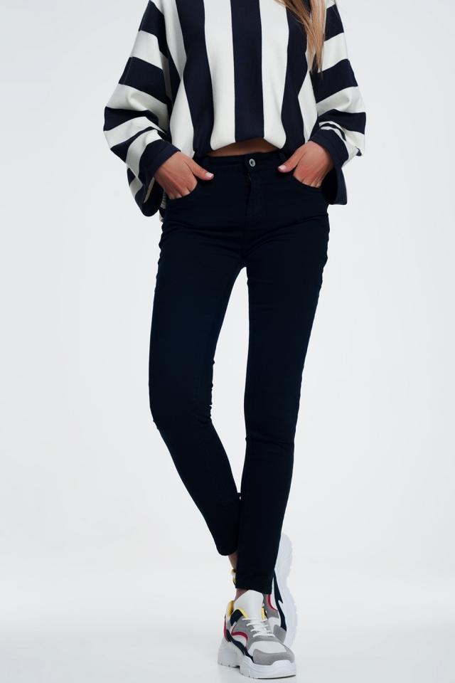 Skinny jeans in blauw Marine