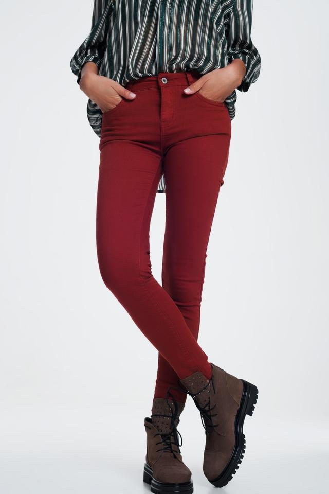 Skinny jeans in Bordeaux