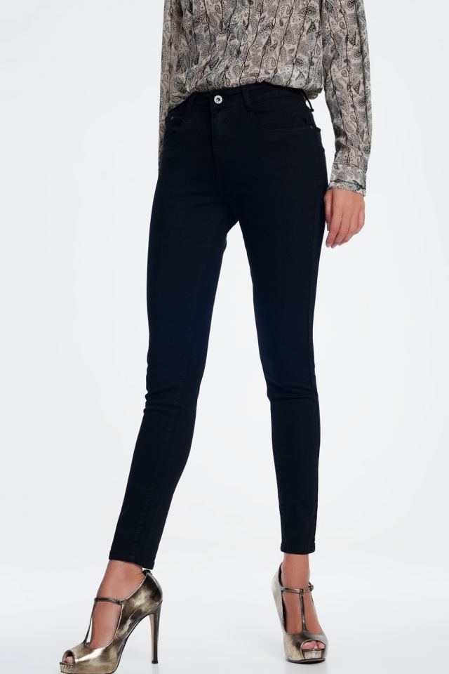Skinny jeans in zwart