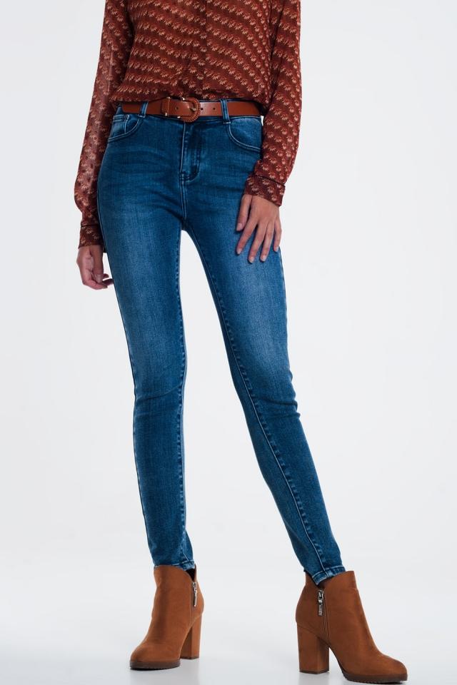 Skinny jeans met lichte wassing