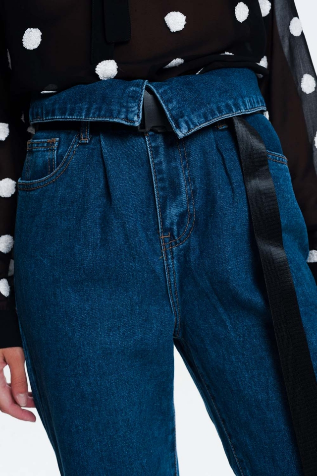 Jeans stijl paper bag