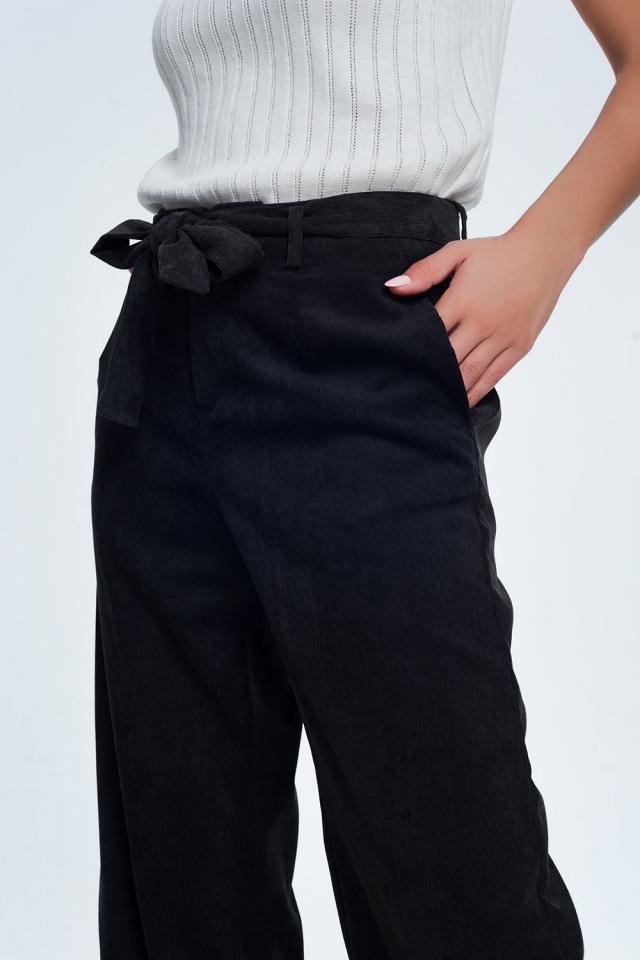 Corduroy broek in zwart