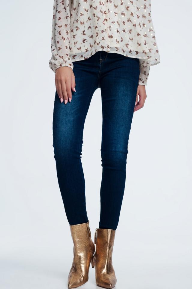 Jeans met gouden streep