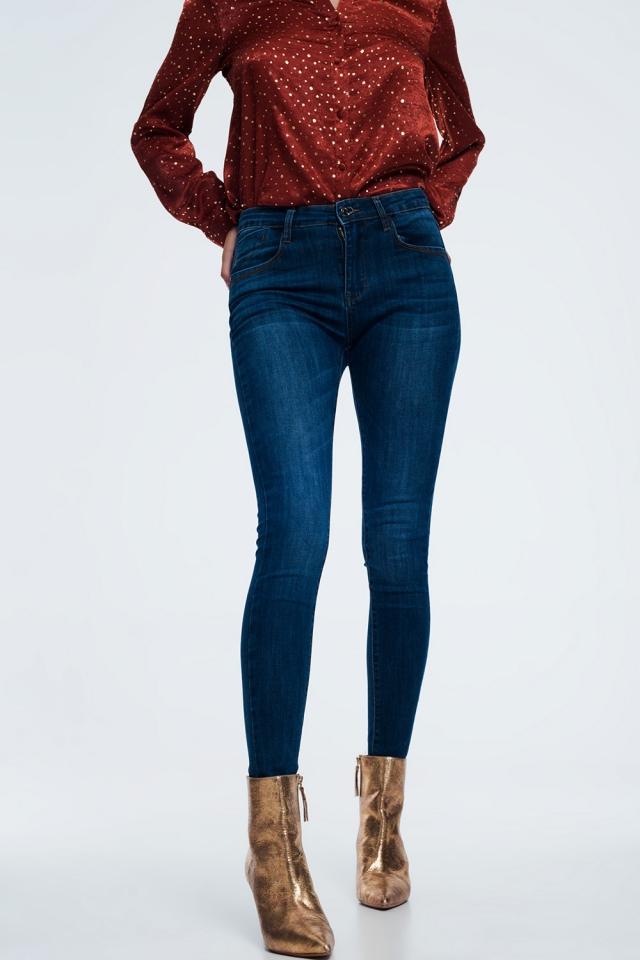Skinny corrigerende jeans in donkerblauw