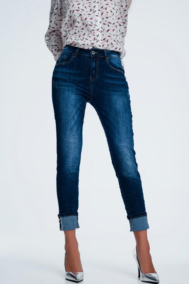 Jeans met omgeslagen pijpen