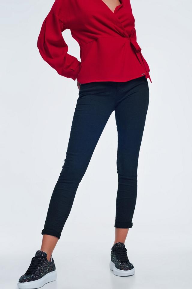 jeans zwarte met hoge taille