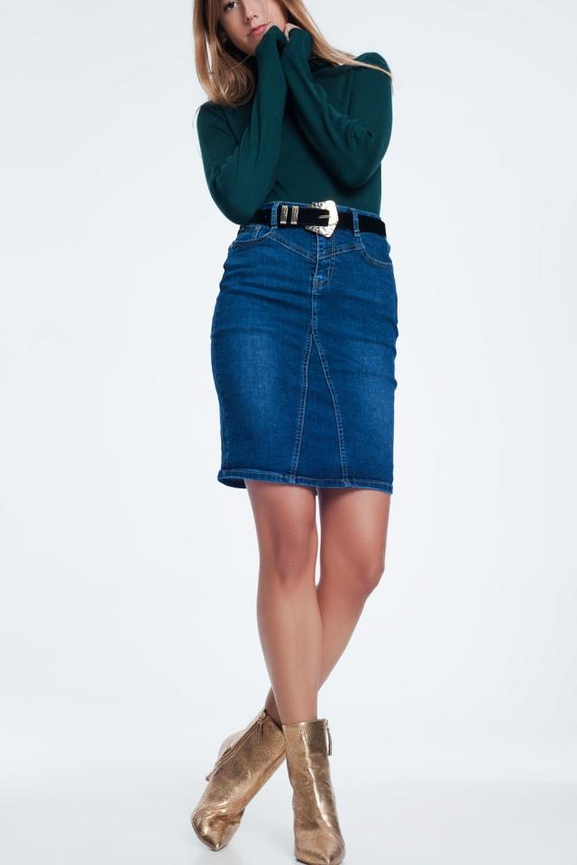 Mini rok van spijkerstof