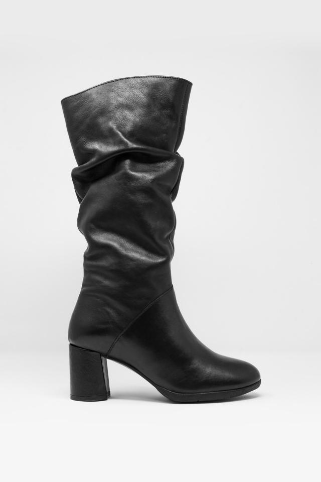 zwart Nonchalante laarzen tot de kuit