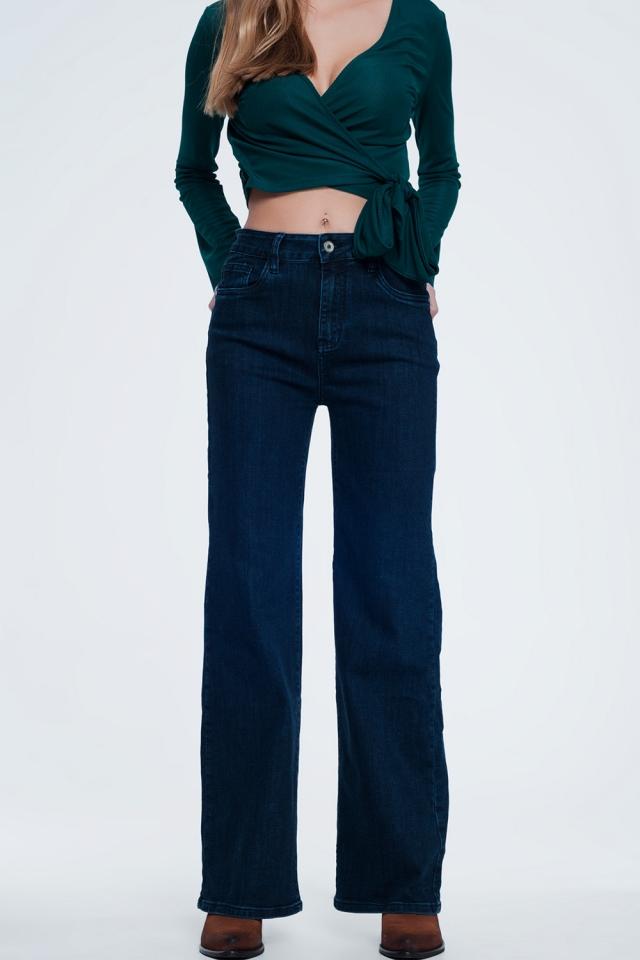 jeans met rechte broekspijpen