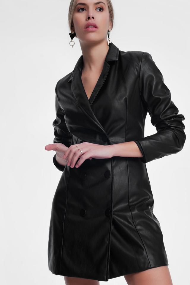 Zwarte trenchcoat jurk