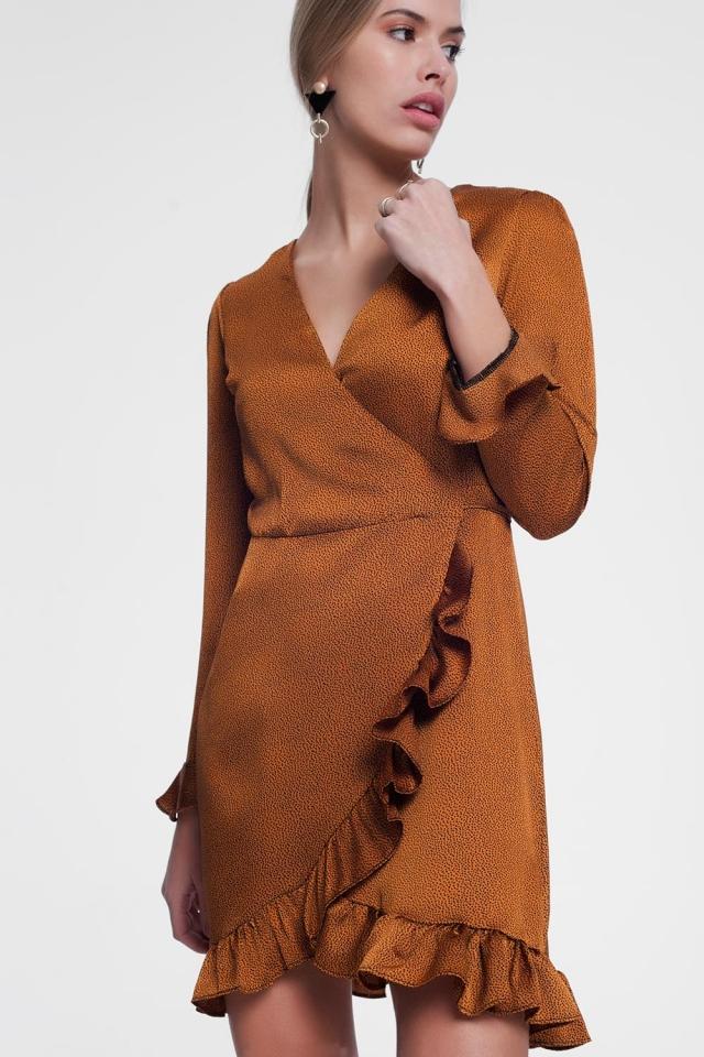 Mosterd gekleurde jurk
