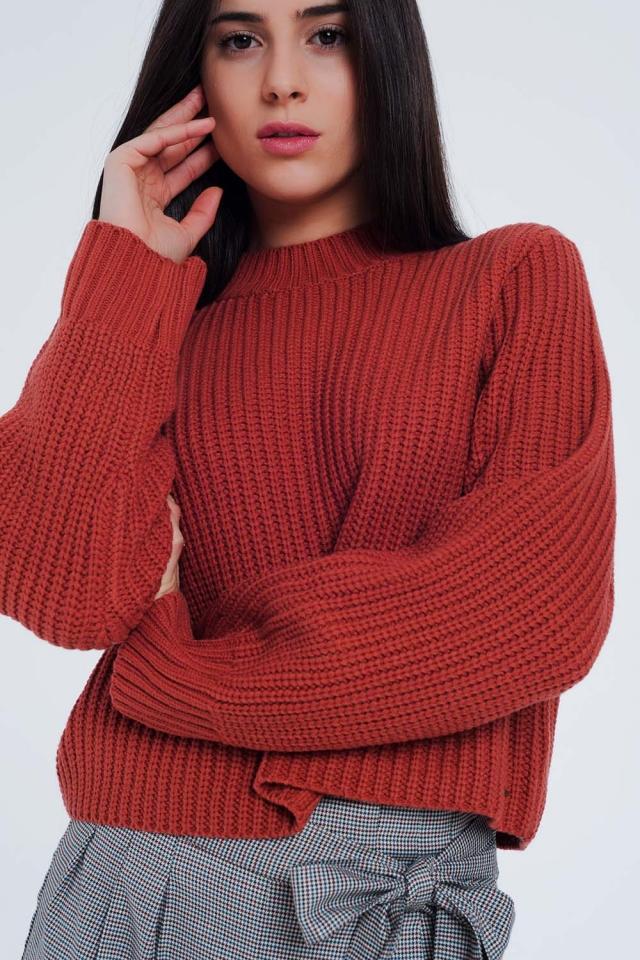 Caldera Kleurige trui met ronde hals