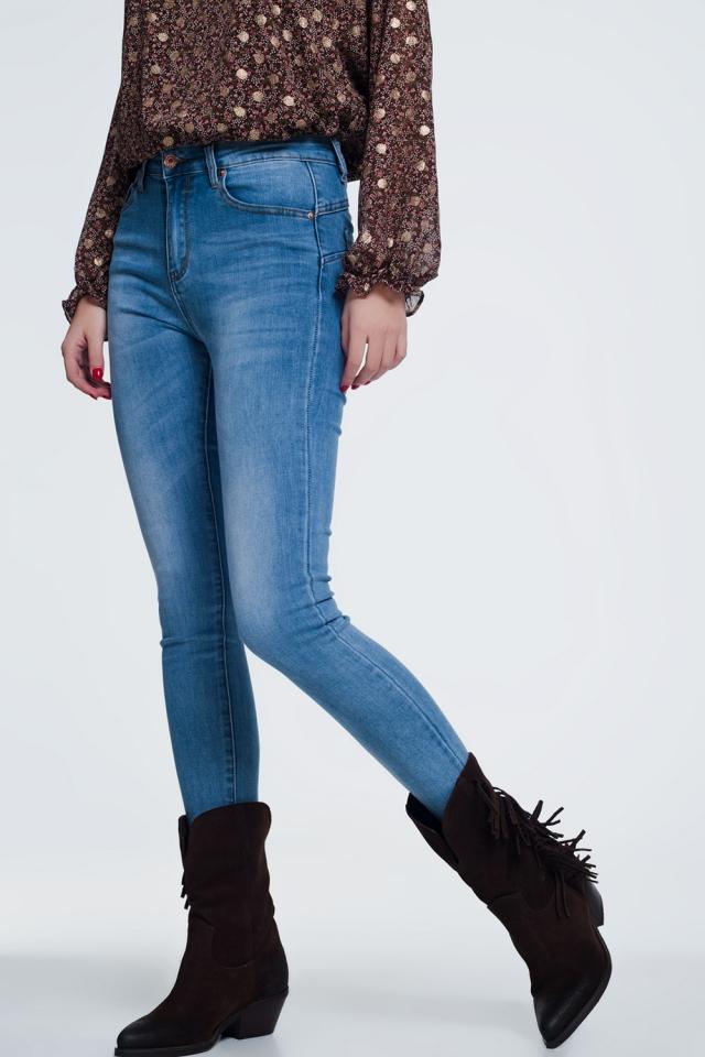 super skinny hoge taille jeans