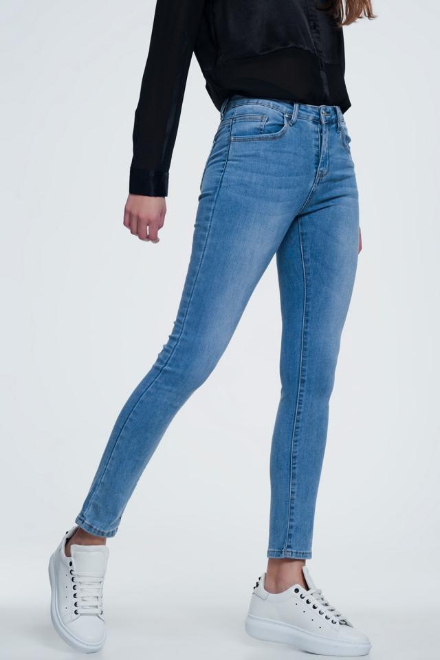 lichte denim skinny jeans met lichte wassing
