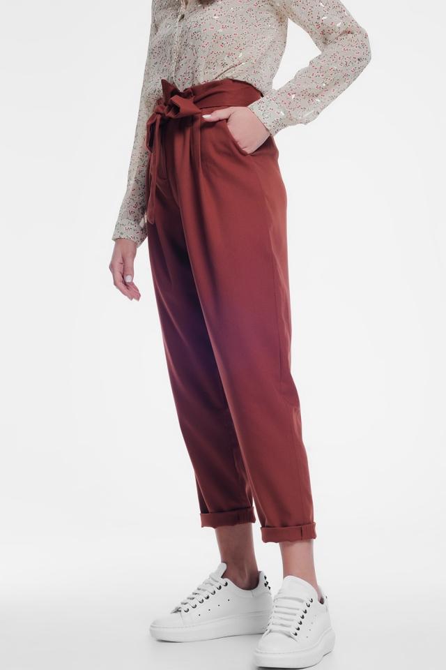 Caldera formele broek met een riem