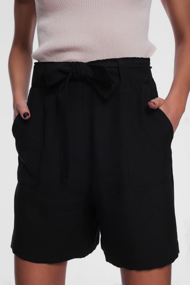 zwarte short met riem