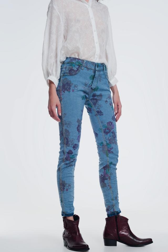 gerimpelde denim skinny jeans