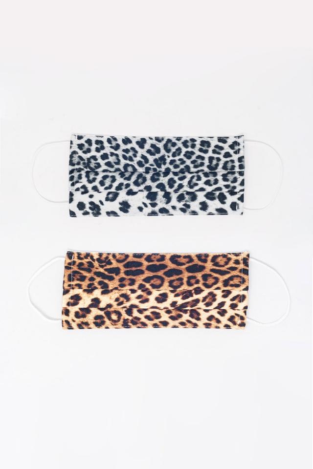 2 PACK Leopard Print Mask