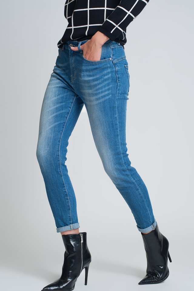 mom jeans met hoge taille in lichte wassing