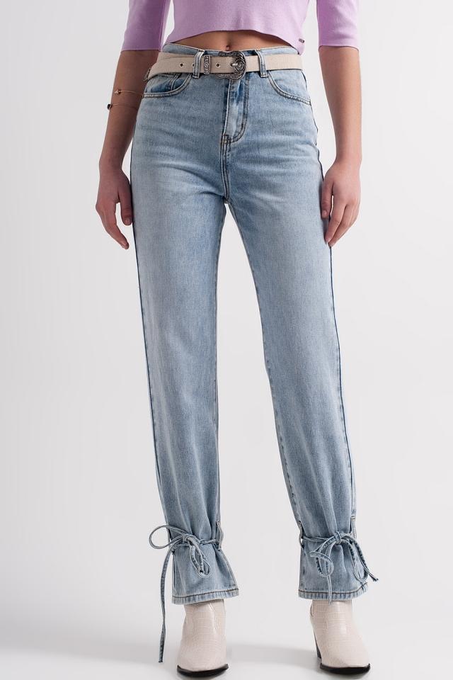 Jeans met enkelbandjes