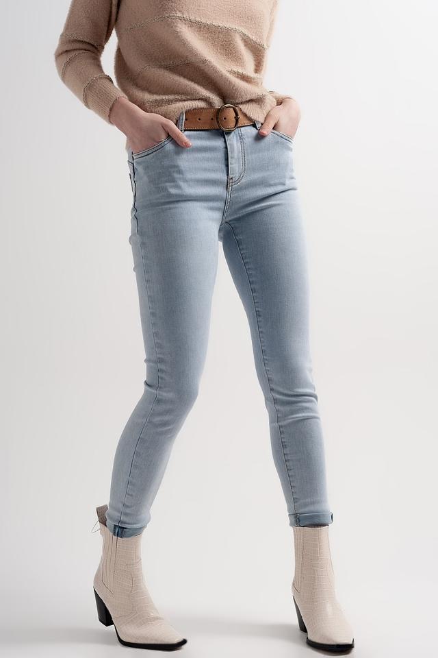 Liftende en corrigerende skinny jeans in blauw