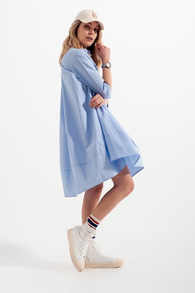 Oversized shirtjurk in blauw