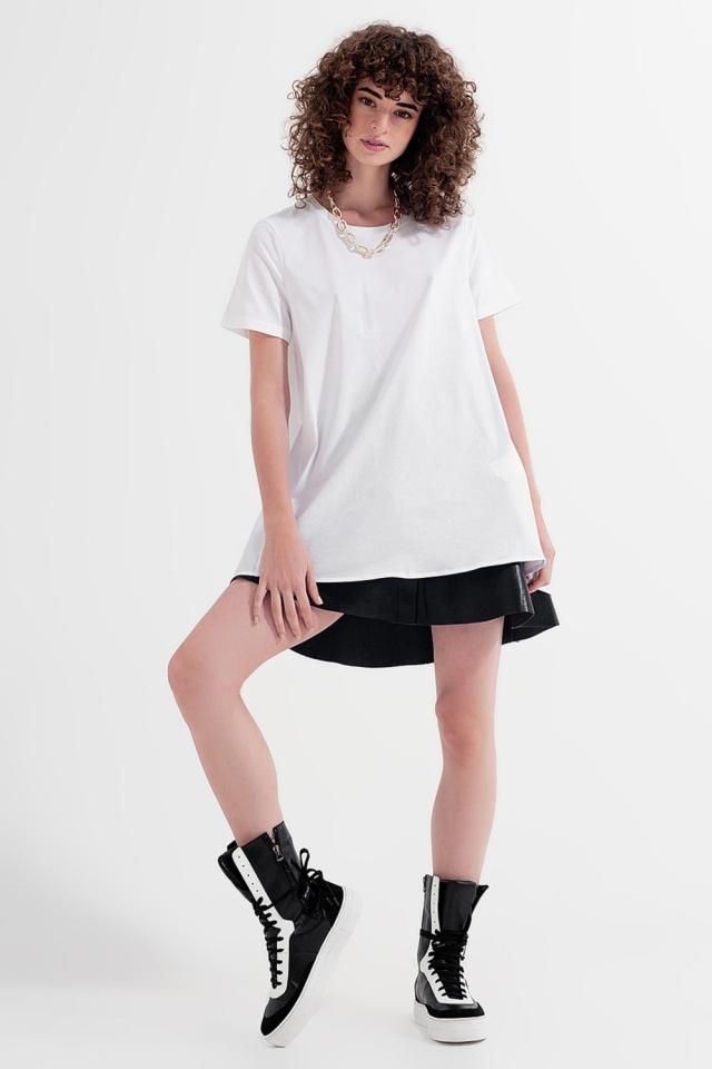 T-shirtjurk in wit